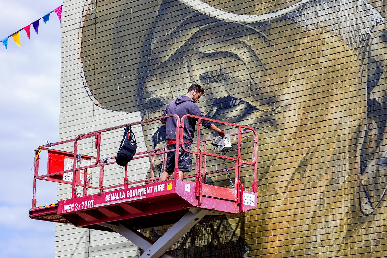 Cam Scale Interview Street Art Mural