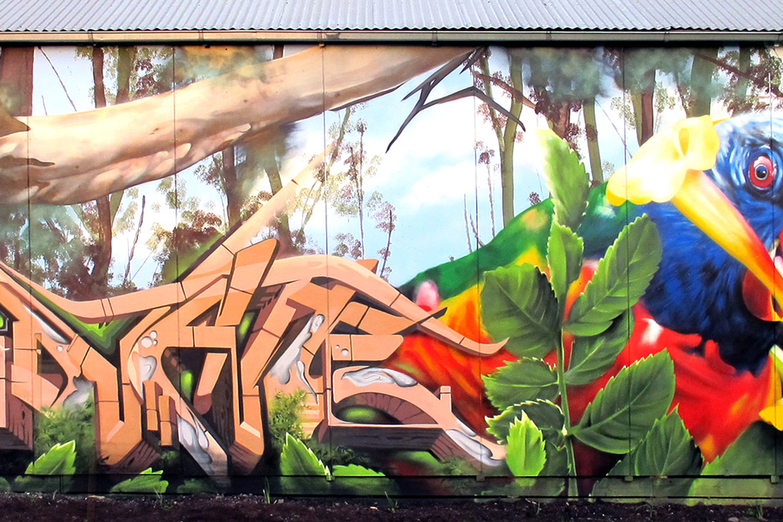 Dvate Street Art Mural Melbourne